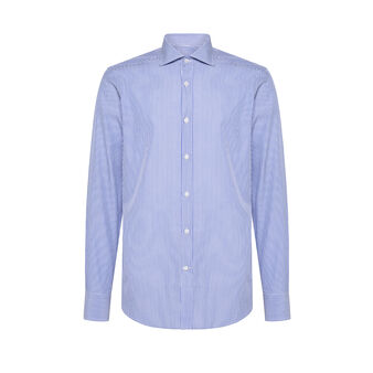 Double-twisted cotton shirt