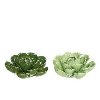 Plant ornament in porcelain