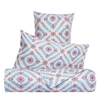 Geometric floral bed linen range in 100% cotton percale
