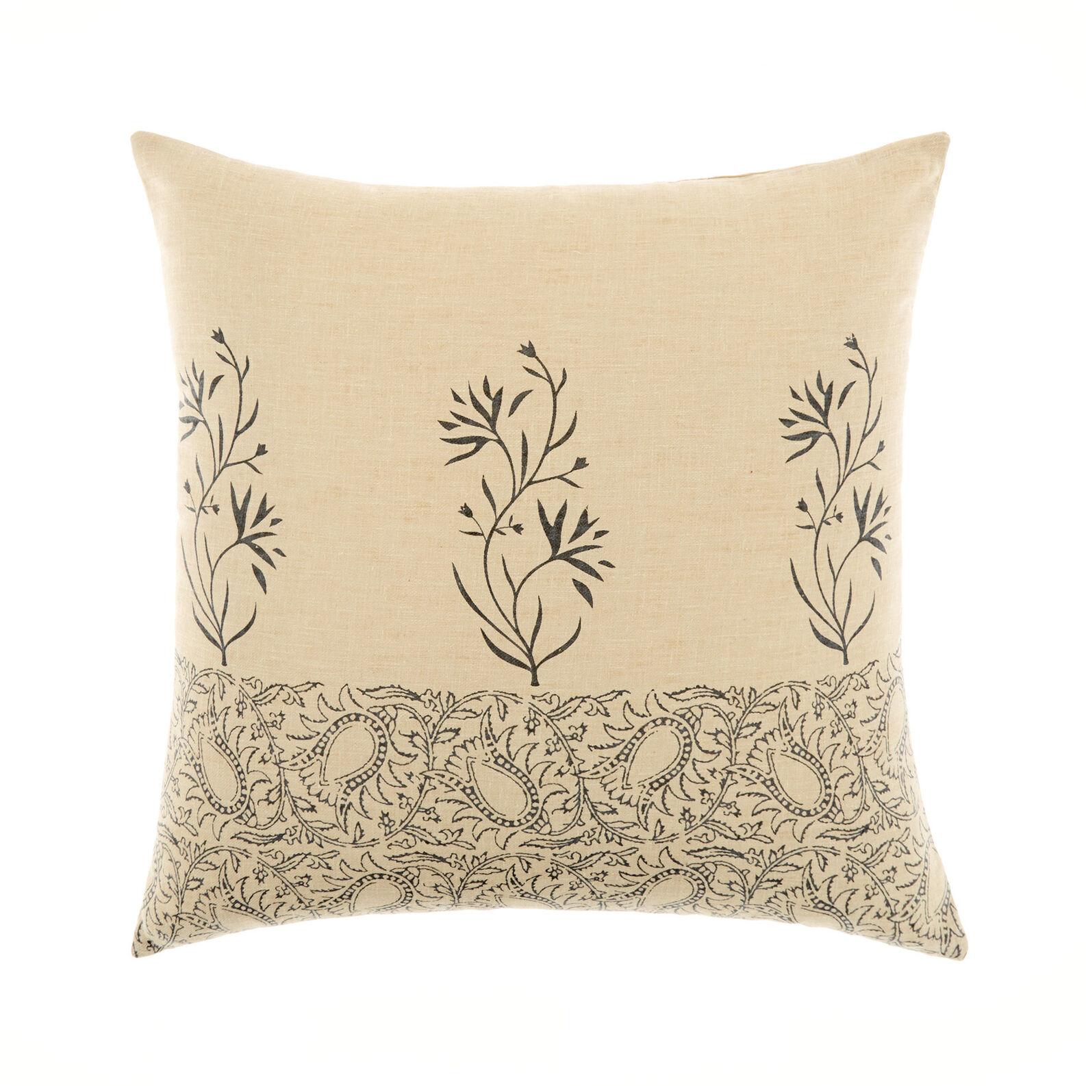 Cuscino stampa botanica