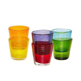 Bicchiere da liquore vetro colorato