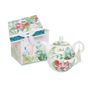 Tea for one new bone china decoro amazzonia