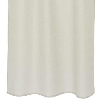 Linen blend curtain with devorè motif