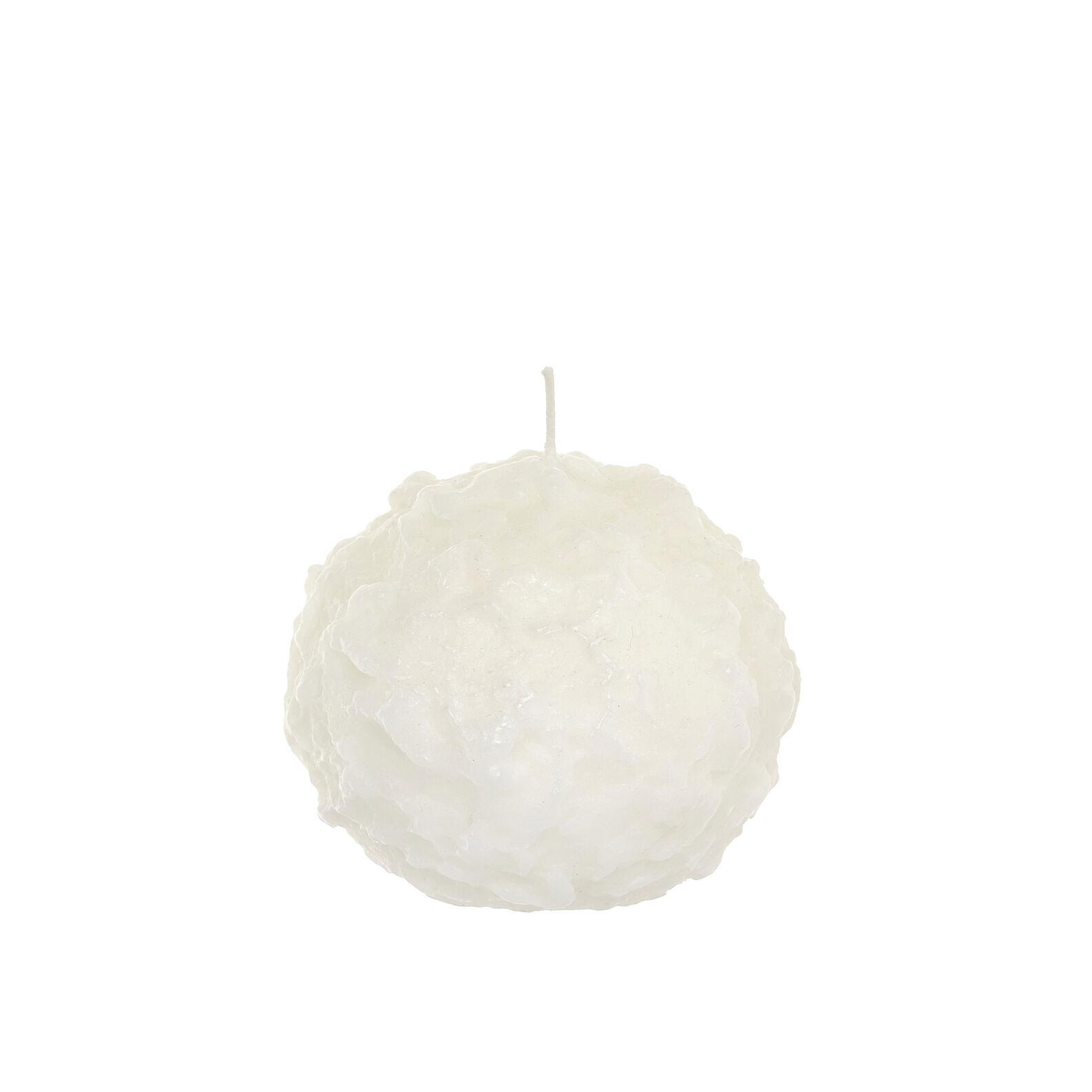 Candela sferica effetto neve