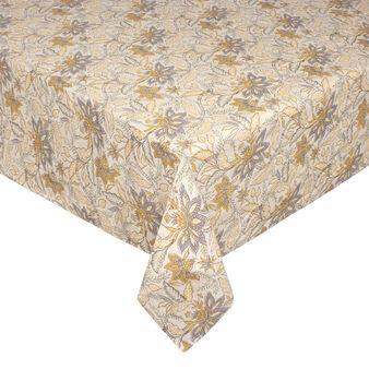 Tovaglia lino e cotone stampa fiori stlizzati
