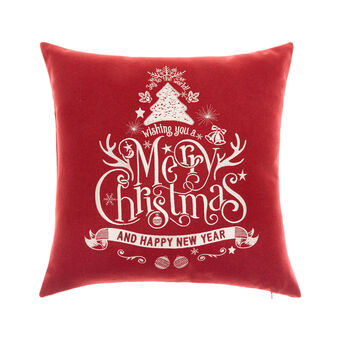 Cushion with Merry Christmas embroidery 45x45cm