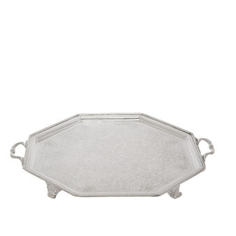 Silver-plated steel tray