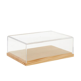 Box in plexiglass and bamboo