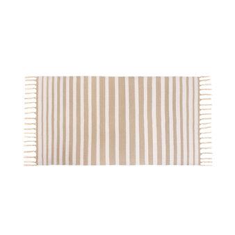 Cotton bath mat with stripes