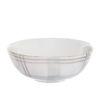 Tartan ceramic salad bowl