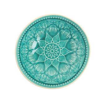 Piatto piano ceramica decorata Noa