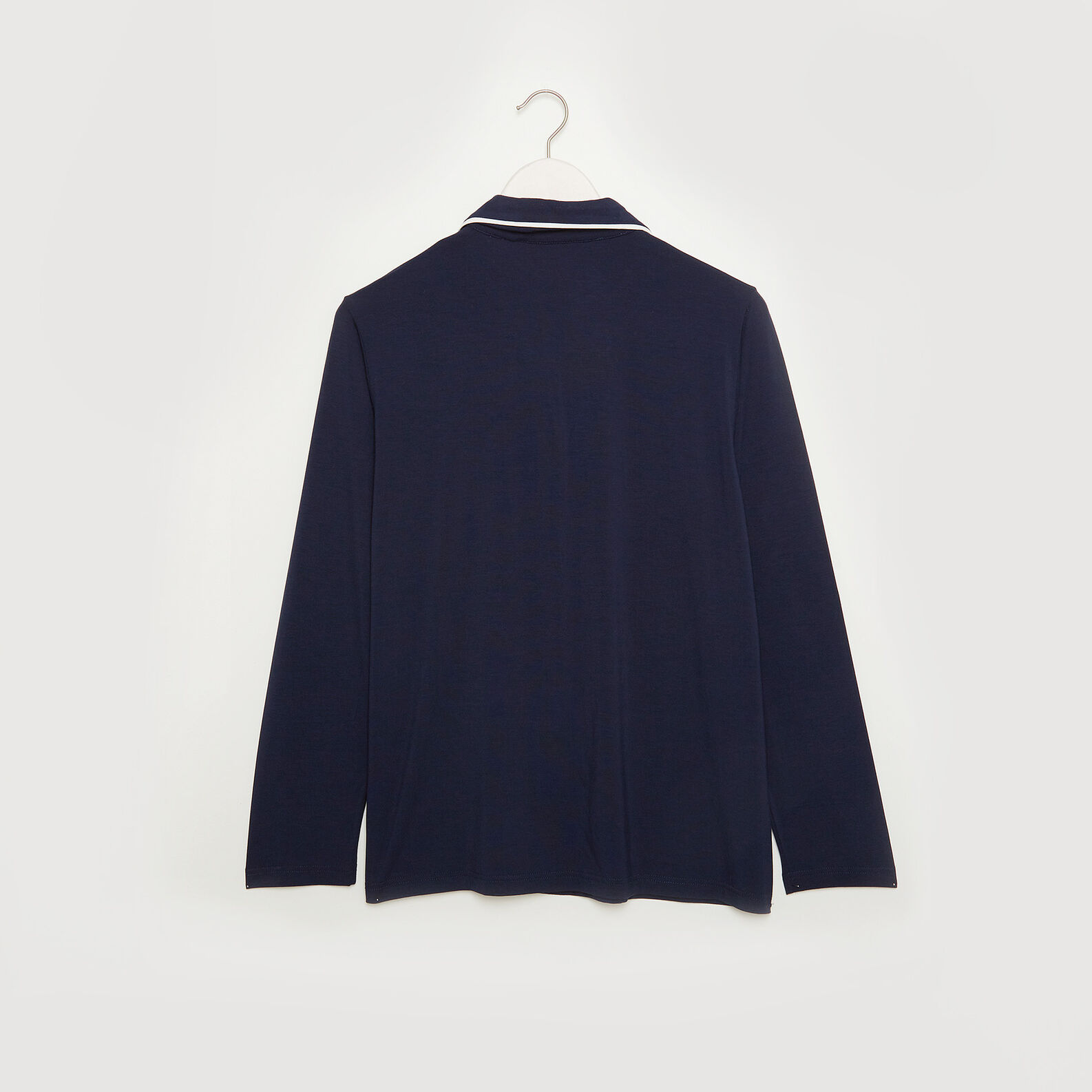 Solid colour pyjama jacket in jersey