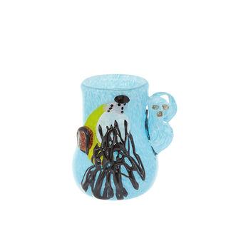 Vaso vetro colorato in pasta Chagall