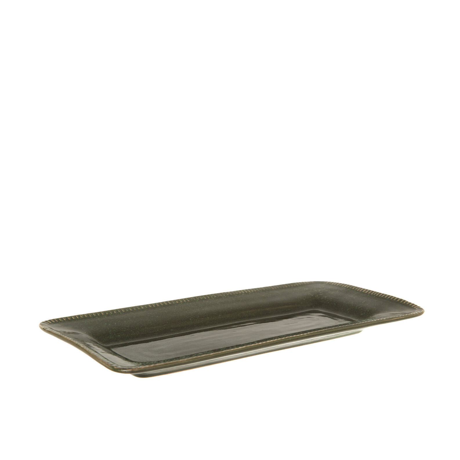 Stoneware side plate with distressed effect