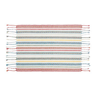 Yarn-dyed 100% cotton table mat with stripes