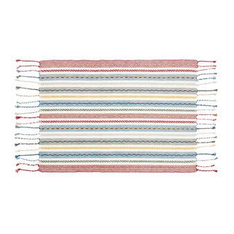 Tovaglietta puro cotone tinto filo a righette