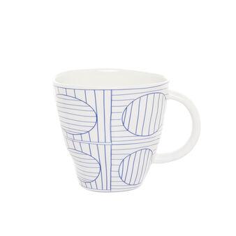 Mug porcellana motivo geometrico