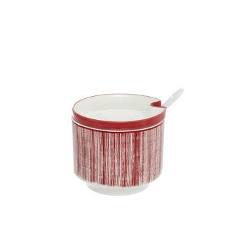 Magenta sugar bowl new bone china.
