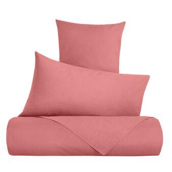 Solid colour duvet cover set in cotton percale
