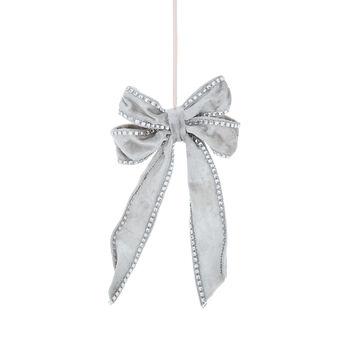 Decorative velvet bow