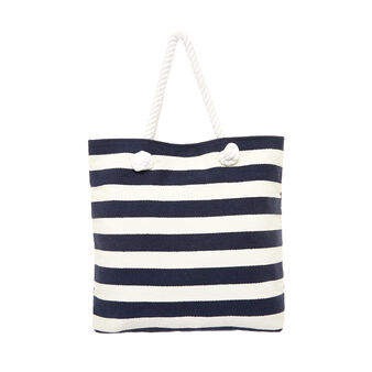 Striped cotton beach bag