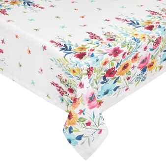 100% cotton tablecloth with flowers print