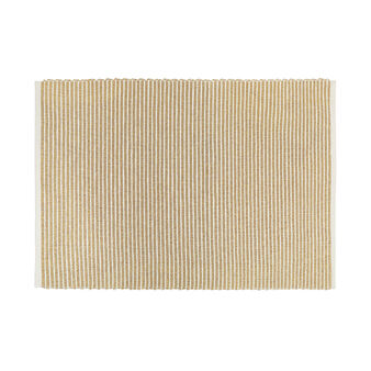 100% cotton table mat with lurex stripes