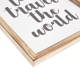 Let's travel the world photographic print with frame