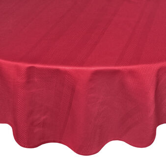 Zefiro round tablecloth in 100% Egyptian cotton jacquard