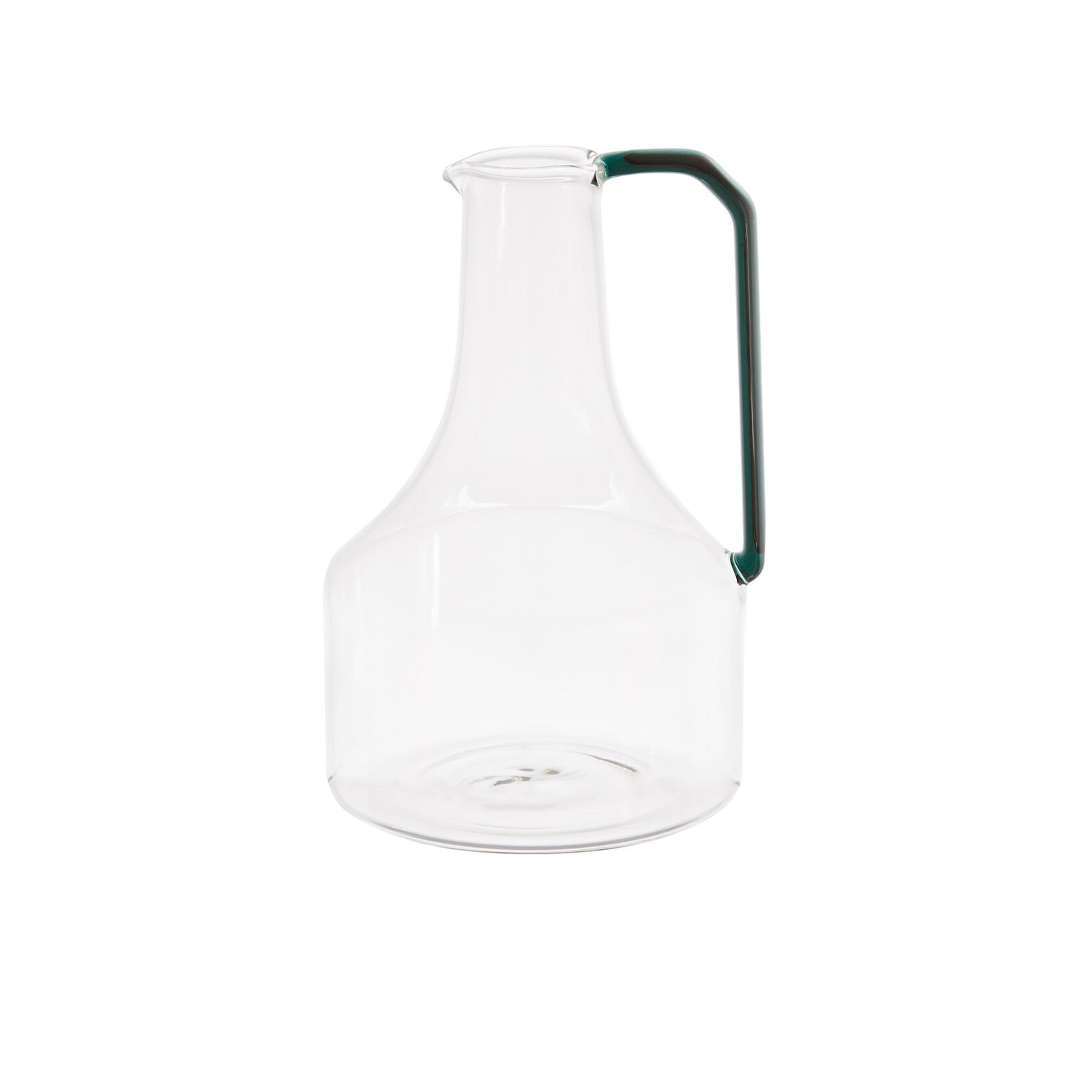 Glass carafe in coloured handle
