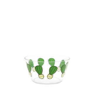 Small transparent cactus bowl