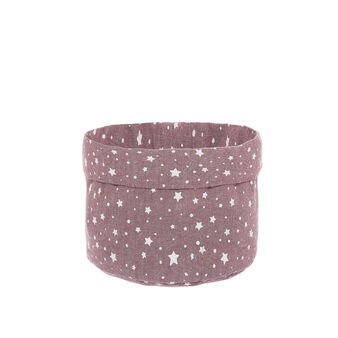 100% cotton basket with stars print