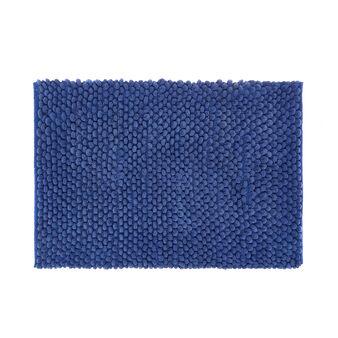 Bath mat in solid colour shaggy cotton