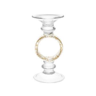 Handmade glass candle holder