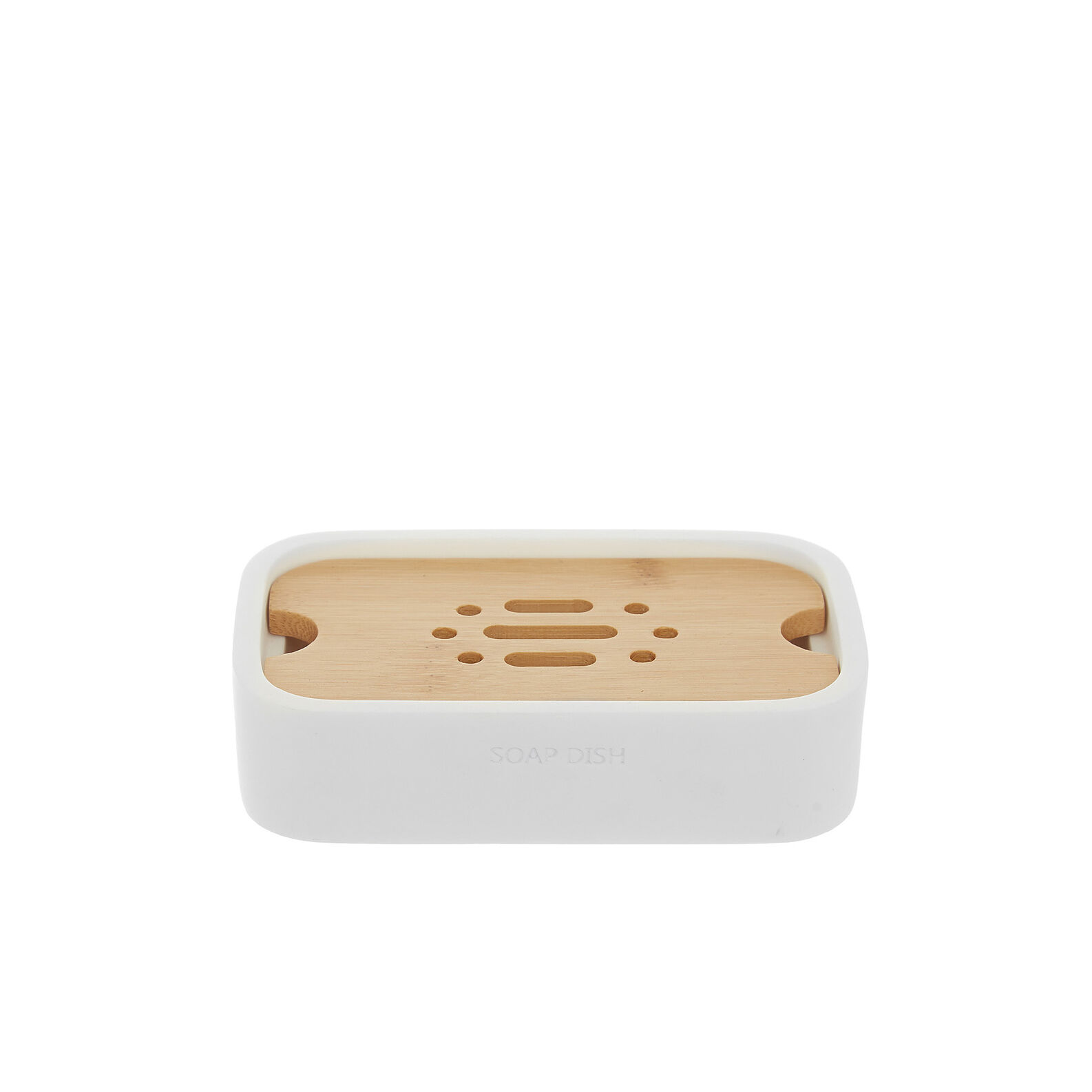 Linea soap dish with bamboo detail