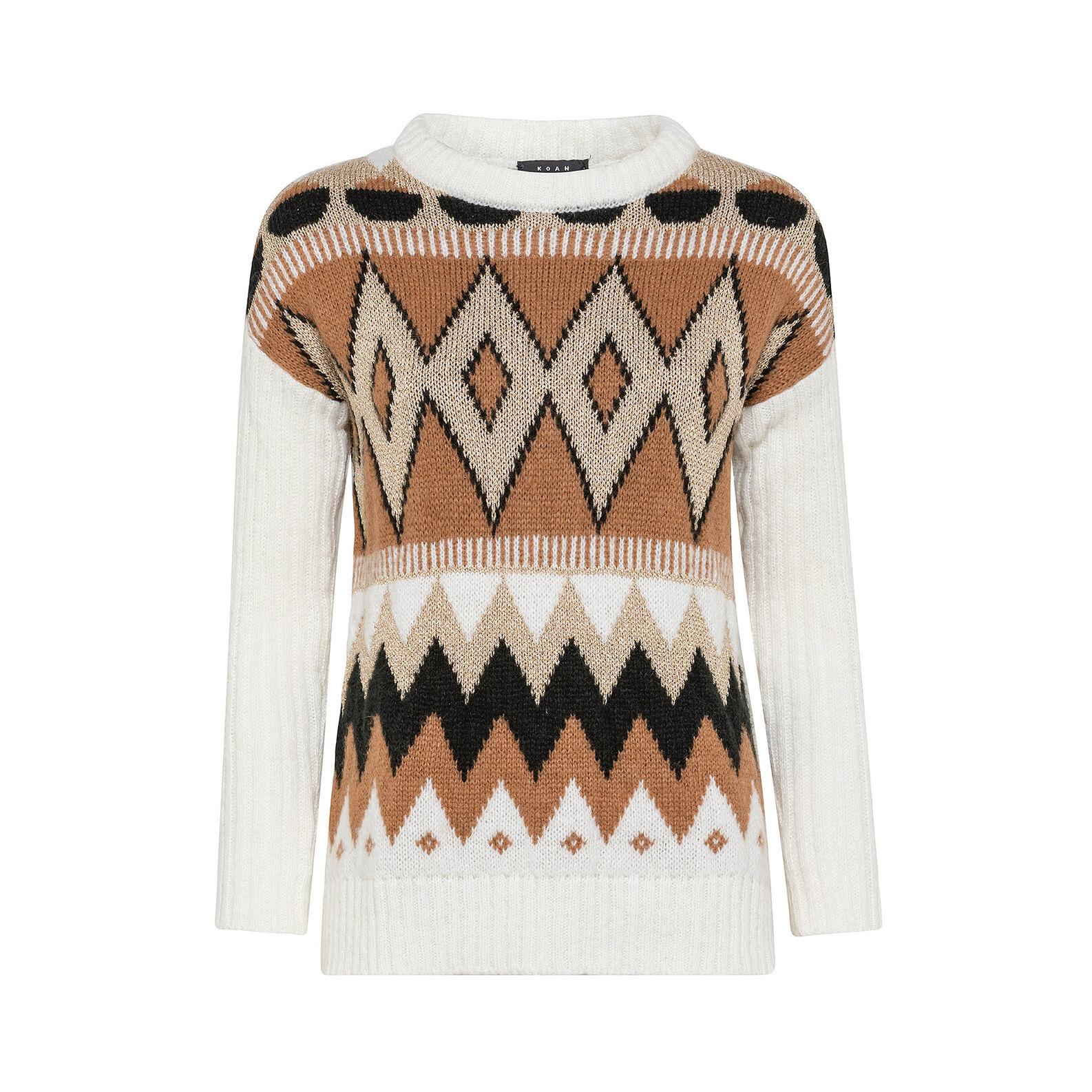 Jacquard design sweater