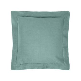 Pure linen cushion with overlock