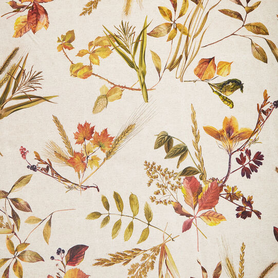 Water-repellent Teflon tablecloth with autumn print