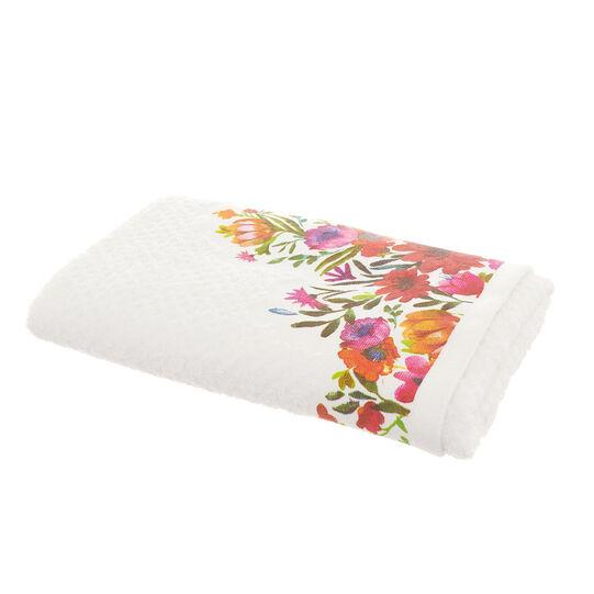 b5ddc13b042fe 100% cotton towel with flower print - coincasa