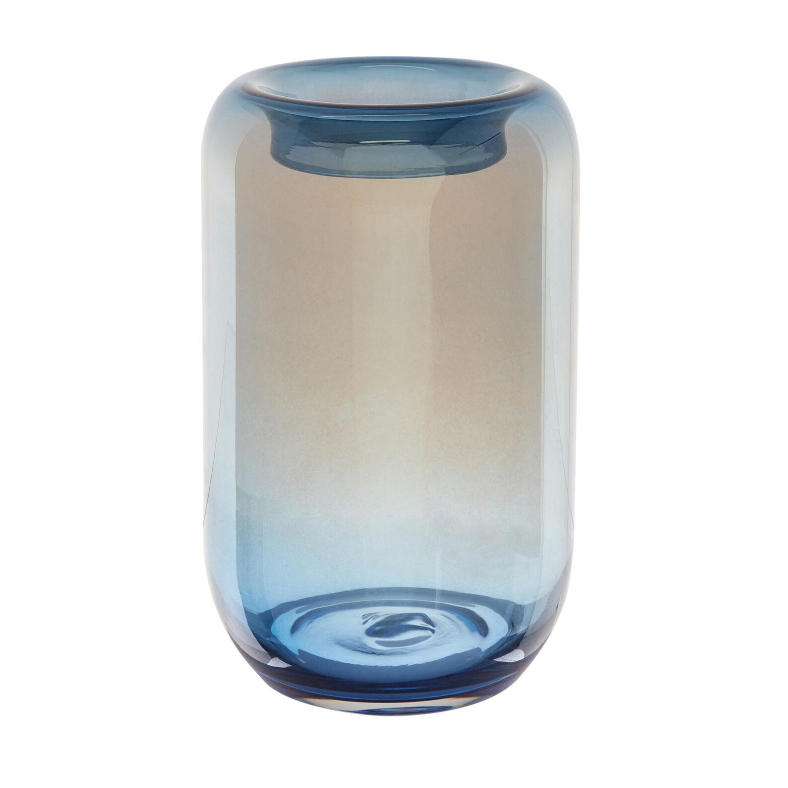 Vaso vetro colorato in pasta effetto specchio