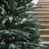 Ice-effect Siberian Snowing Christmas tree, h 225 cm