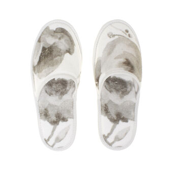 Portofino floral slippers in 100% cotton