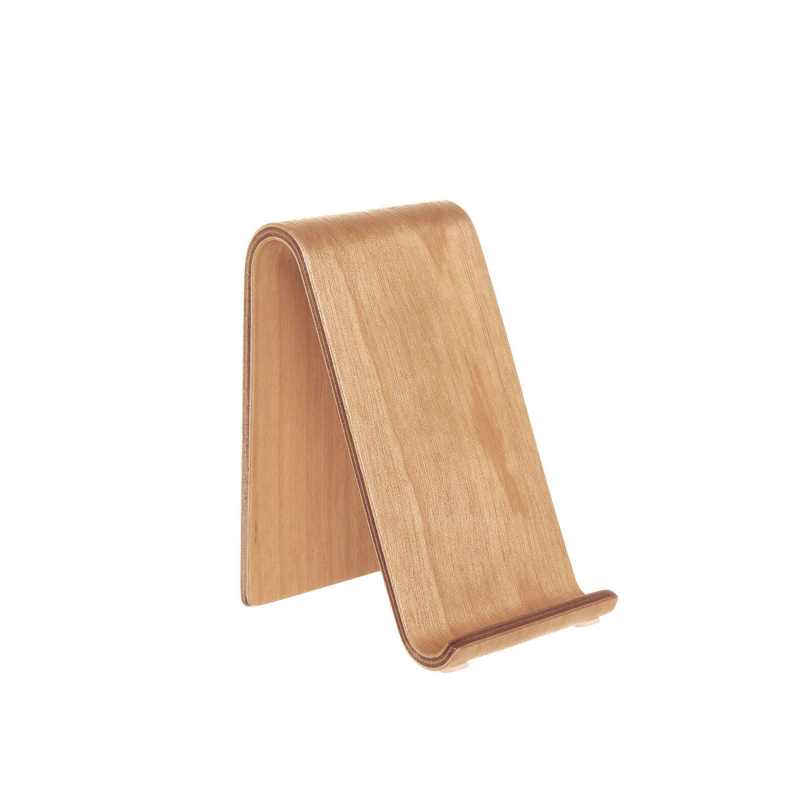 Vertical mobile phone in birch wood
