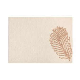 Tovaglietta cotone e lino ricamato