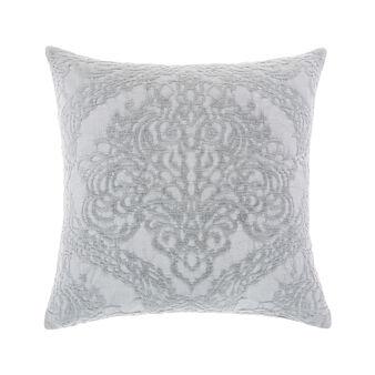 Solid colour cotton piquet cushion