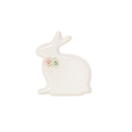Small porcelain rabbit plate