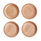 4-pack birch wood drinks coasters