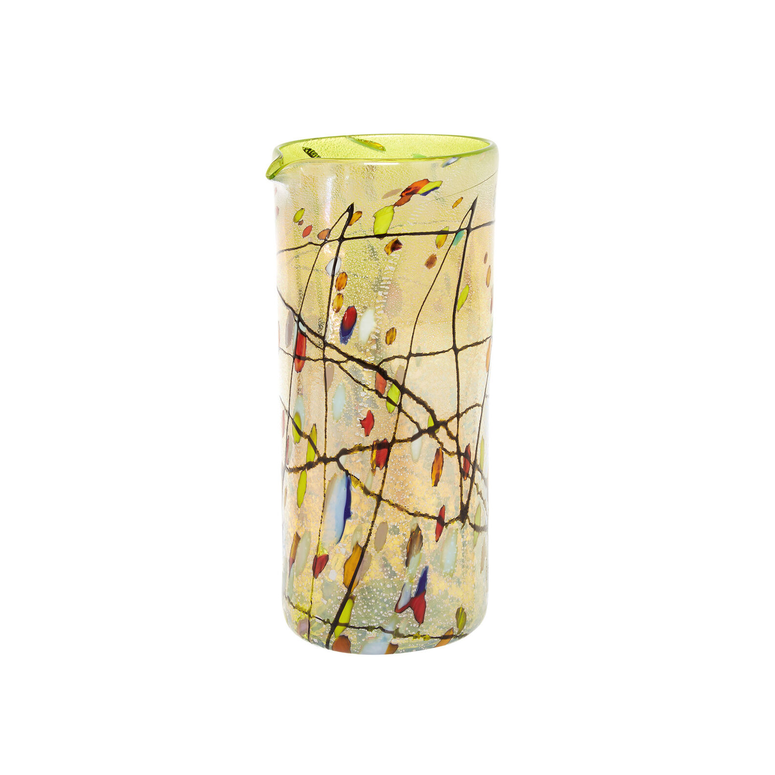 Murano glass carafe with Kandinsky decoration
