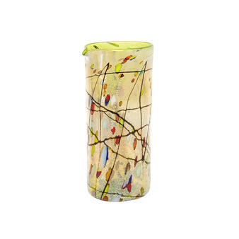 Murano glass carafe with Kandinsky decoration