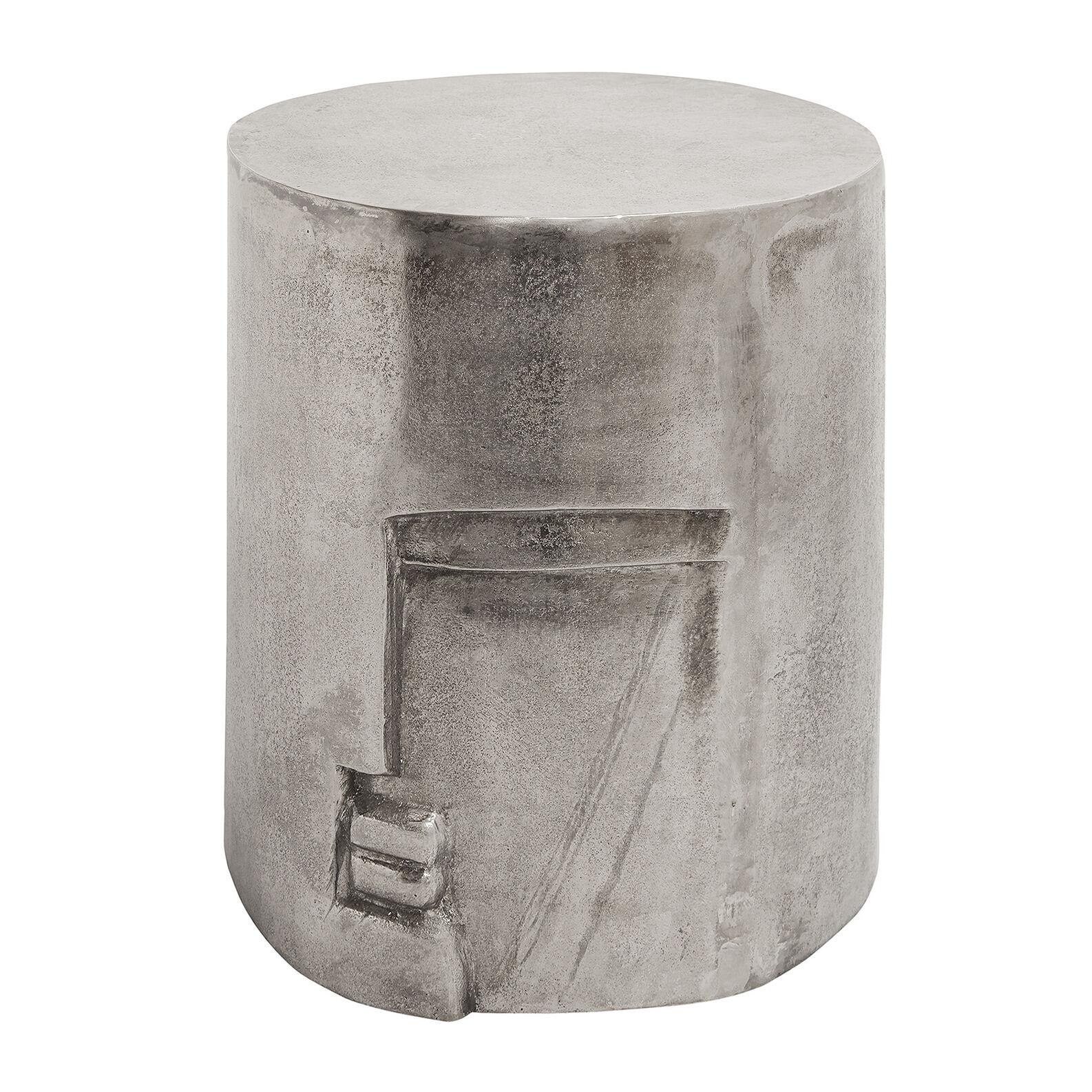 Bauhaus stool/small table in aluminium